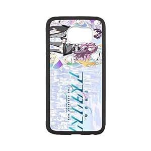 El caso funda de plástico Asterisk Guerra Bentobyte Aniplex teléfono celular Samsung Galaxy S6 funda funda caja del teléfono celular negro cubre ALILIZHIA11137
