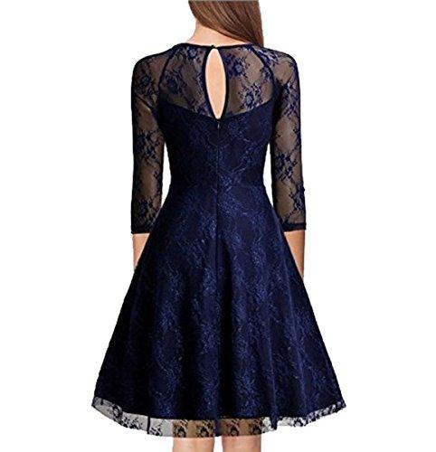 U8Vision - Vestido - trapecio - para mujer azul oscuro