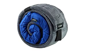 CORI Travel Pillow - World's 1st Customizable Memory Foam Travel Neck Pillow That ADAPTS to You for The Best Support, Comfort & Portability (Cerulean Blue)