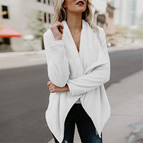 Hiver Sweat Laine Capuche Ensemble Pardessus Ouvert Pull Outwear Blanc Costume Et Hauts Front De Femmes Automne Mode Casual À Dames Longues Rayé Manches 6581wOxq