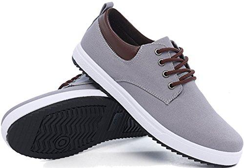 PPXID Hommes Lacet Gris à Bateau Mode Chaussures Baskets rqrg7TnO