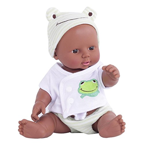 Search : OVERMAL Reborn Baby Doll Black Rare Alive African-American Soft Children Dolls with Clothes (Reborn Baby Doll, GREEN)