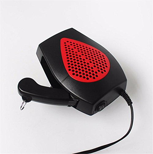 12V Portable Car Heater Locomotive Heater Heater Purifier Snow Defogger Car Defroster, red:
