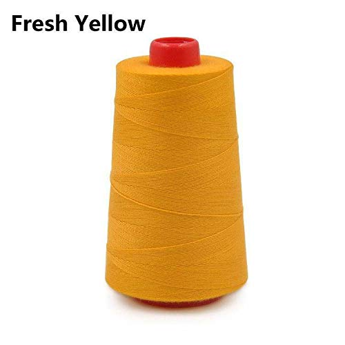 1Roll 20S/3 Lots Colors Sewing Machine Polyester Color Thread Button Sew Craft (Color - 5#Fresh Yellow)