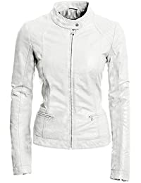 Amazon.com: White - Leather & Faux Leather / Coats, Jackets ...
