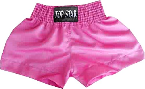 BAY® REMY Thaiboxhose  UNI PINK ROSA  Grössen XS, S, M , L, XL, einfarbig, ohne Schrift Thaiboxshort, MMA Hose Short Thaiboxen Muay Thai, Satin, Kickboxhose kurz Boxing Boxen Shorts Kinder Kids Damen Herren Satin Combat Trunks Pant Free Fight Grappling Kam