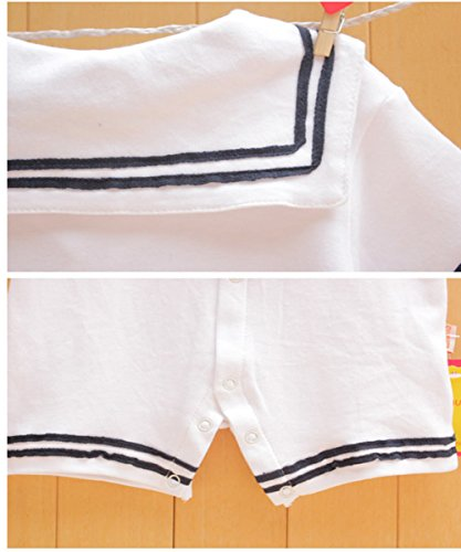 Baby Boy Girl Anchor Sailor White Striped Photo Props Romper Outfit