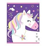 Unique 72506 Plastic Rainbow Unicorn Loot Bags, 8Ct