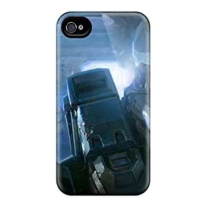 Hot Fashion YmrYNEz3912dFCrK Design Case Cover For Iphone 4/4s Protective Case (halo 4 Good Luck Master Chief)