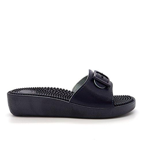 London Footwear - talón abierto mujer Azul - azul marino