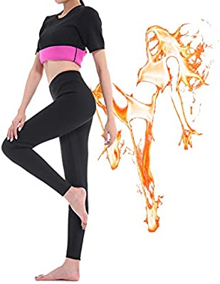 BS007 GoldFin Women Sauna Pants High Waist Neoprene Pants with Pocket for Workout Body Shaper Hot Thermo Sweat Leggings