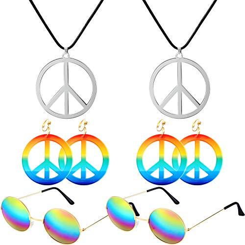 Hippie Theme - Fiada 6 Pieces Hippie Costume Set,