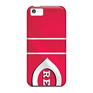 LisaSwinburnson Iphone 5c Scratch Protection Mobile Covers Allow Personal Design Stylish Cincinnati Reds Image [Xpn7220KnGA]