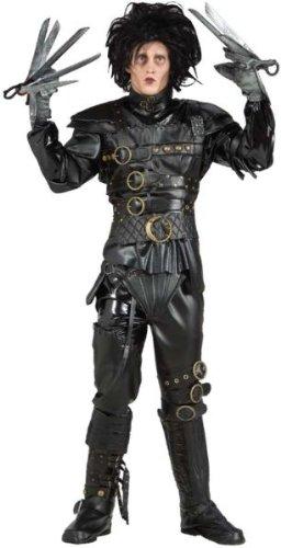 [Super Deluxe Edward Scissorhands Costume - Standard - Chest Size 46] (Scissorhand Edward Costume)