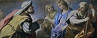 Oil painting ` Giordano Luca Abraham adorando a los tres angeles 169596`で印刷ポリエステルキャンバス、20x 51インチ/ 51x 128cm、最高の廊下インテリアとホームアートワークとギフトはこの最高価格アート装飾プリントキャンバスの商品画像