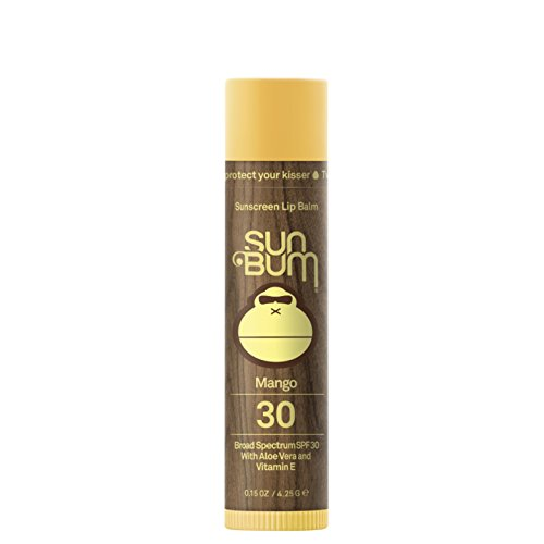 Sun Bum Mango Lip Balm SPF 30 | Moisturizing, Hypoallergenic, Paraben Free, Gluten Free, Vegan | Broad Spectrum UVA / UVB Protection Lip Protection | .15oz Stick (Best Thing For Chapped Lips Besides Chapstick)