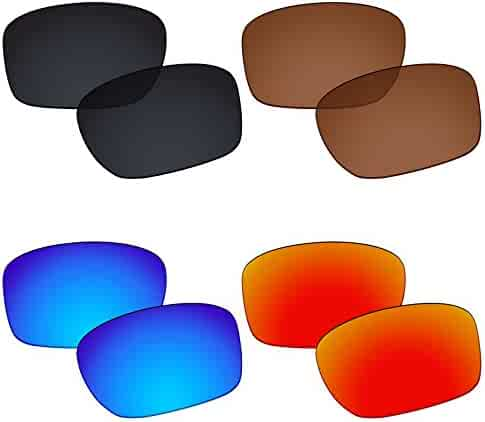 e194c62222097 Galvanic 4 Pairs Polarized Replacement Lenses for Oakley Sliver F Pack P02