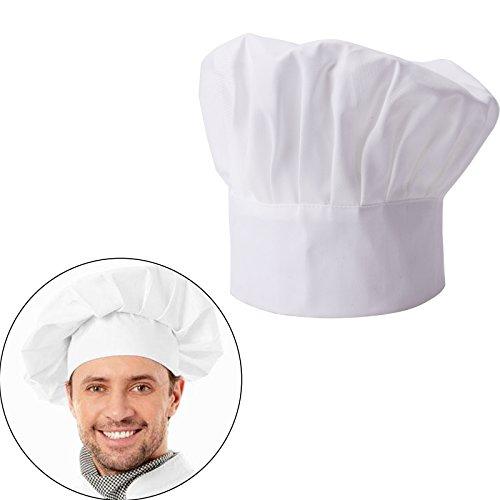7e4f4af1e12b Cappello da Cuoco Berretto Donna Uomo Chef Hat Regolabile Ristorante Bar  Barbecue Caffeteria Hotel Cucina Bianco  Amazon.it  Casa e cucina