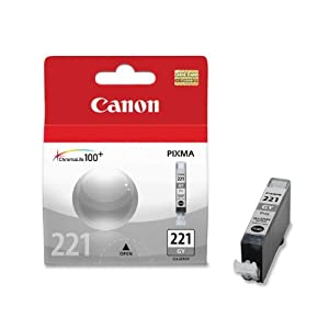 Canon CLI-221 Ink Tank (Gray), Genuine Ink by Canon Office Products