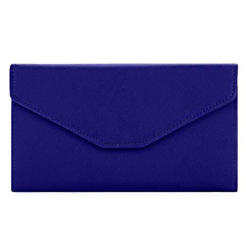 NEWANIMA Fashion Leather Women Travel Clutch Phone Passport Holder Envelope multifunction wallet ()