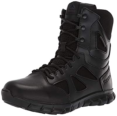 Reebok Women's Sublite Cushion Tactical RB806 Military & Tactical Boot, Black, 8 M US