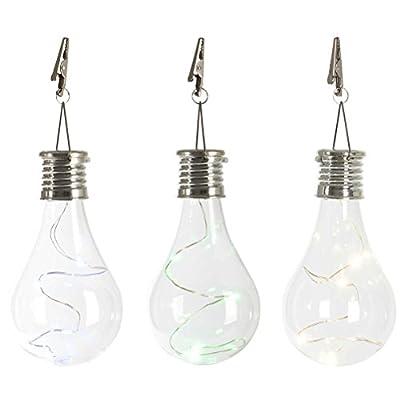 LEDMOMO Waterproof Solar Rotatable Hanging LED Light Lamp Bulb for Outdoor Garden Camping Warm Light
