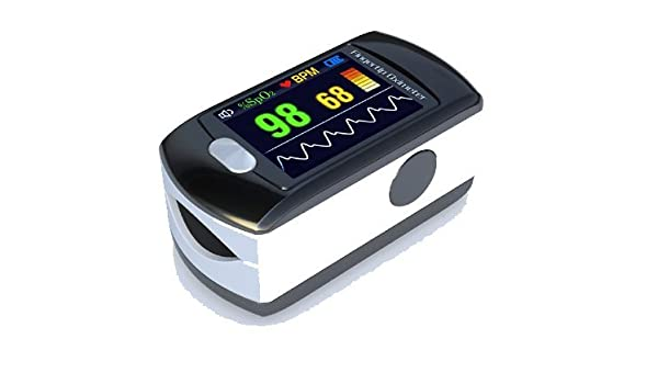 Contec Full-Colour OLED USB Finger Pulse Oximeter & Heart Rate Monitor w/ 24hr Memory, Lanyard, 3pin UK USB Adapter, Carry Case & Full Analysis Software: ...