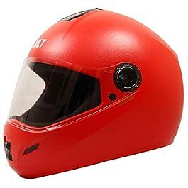 Steelbird SB-39 Jolt 7Wings Classic Full Face Helmet (Large 600 MM, Red with Plain Visor)