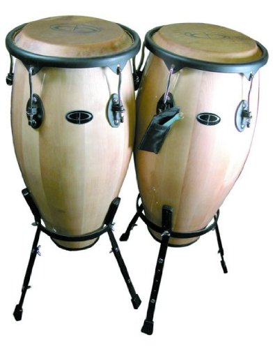 Gp Percussion Tunable Wood Conga Set With Stand