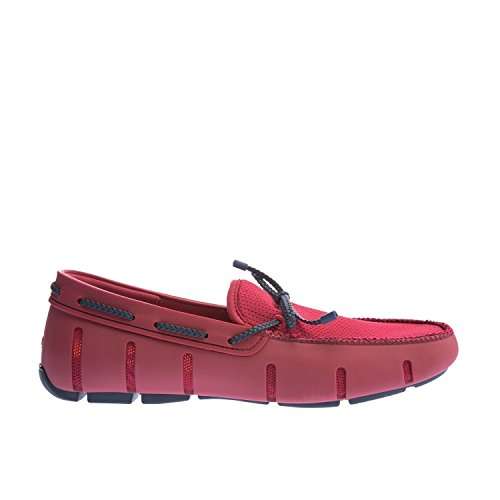 Swims Braided Lace Loafer, Mocassini Uomo Rosso (Deep Red/Navy 593)