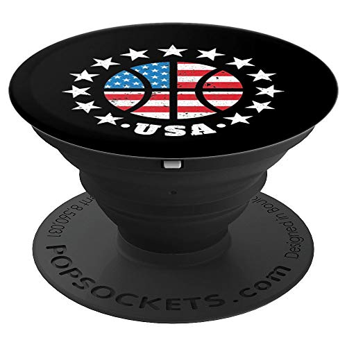 USA Basketball Flag 4th Of July Independence Day Gift - PopSockets Grip and Stand for Phones and - Basketball Mobile Usa
