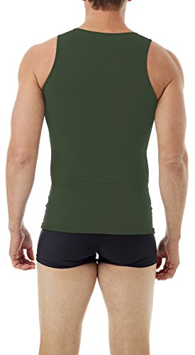 Underworks Mens Microfiber Compression Tank, XSmall, Army Green by Underworks (Image #1)