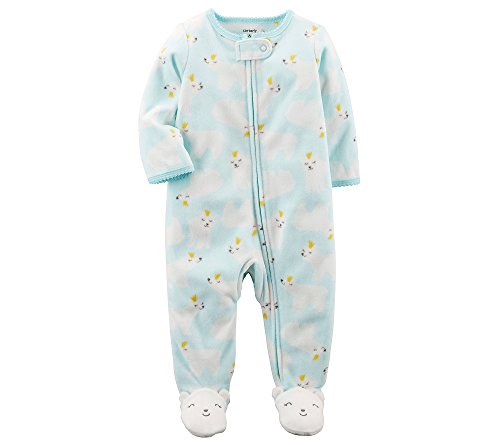 Carter's Baby Girls' Polar Bear Zip up Fleece Sleep and Play