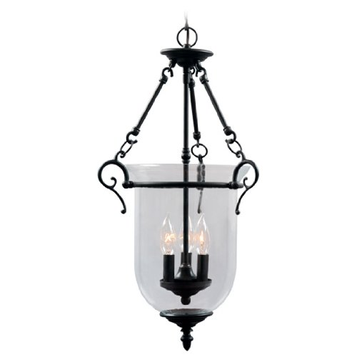 Livex Lighting 5022-07 Legacy 3 Light Bronze Chandelier with Clear Glass - Pendant Bound Glass Lantern Light