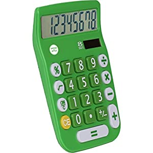 Avalon 8 Digit Dual Powered Desktop Calculator, LCD Display