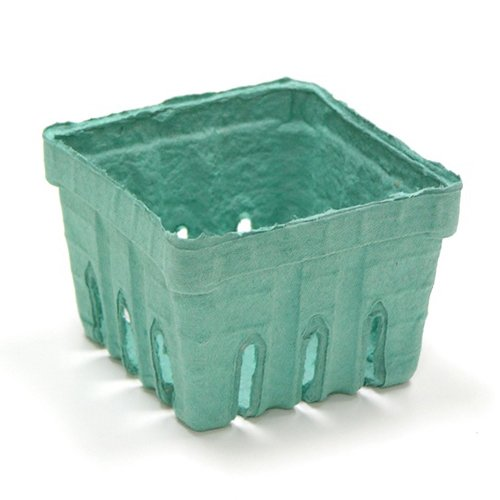 Pactiv Biodegradable M336126 Green Pulp 1 Pint Sized Berry Basket - 420 Per Case