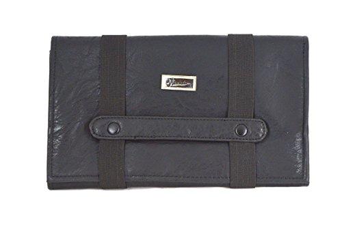 Vincent Shear Case Tool/Makeup Brush Professional Case Black Faux Leather