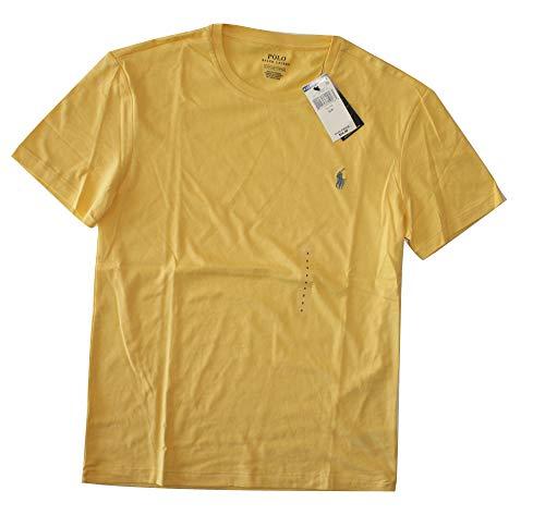 Tall Lauren Ralph And Big - Polo Ralph Lauren Mens Cotton Crewneck Tee (Yellow, Medium)