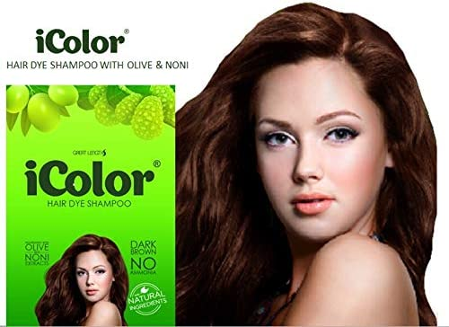 Icolor Organic Hair Dye Shampoo Dark Brown 25ml 0 85 Ounces X 10 Sachets In A Box Shampoo In Hair Color Dye Brown Hair In 5 Minutes Buy Online At Best Price In Uae