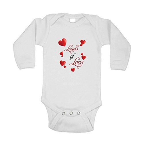 3214ad11e Amazon.com: Cute Rascals Loads of Love Shamrocks Long Sleeve Baby Bodysuit  One Piece: Clothing