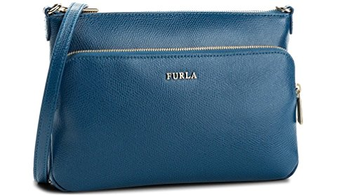 BORSA FURLA ROYAL XL CROSSBODY POUCH 942821 BLU PAVONE