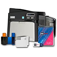 Fargo DTC4250e Single-side ID Card Printer & Supplies Package