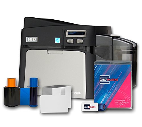 Fargo DTC4250e Single-side ID Card Printer & Supplies Package 52000