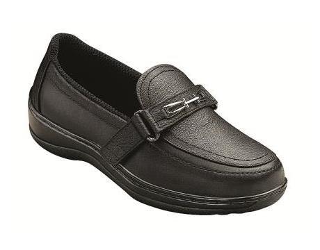 Orthofeet 817 Women's Comfort Diabetic Therapeutic Extra Depth Shoe: Black 7.5 Medium (C) Velcro