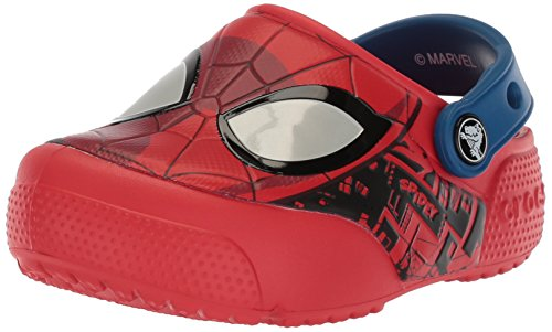 Image of Crocs Boys FL Spiderman Lght Clog K, Flame, 9 M US Toddler