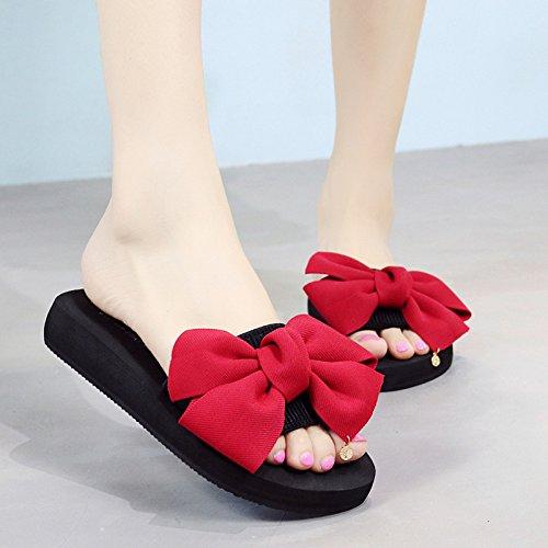 Qingchunhuangtang@ Flache Unterseite Hausschuhe Sandalen Sandaletten Sandalen Dick Unten Hausschuhe Hausschuhe Hausschuhe cd8925