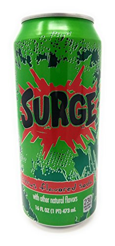 (Surge Citrus Flavored Soda 16fl oz. 12 cans)
