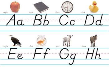 Alphabet Lines Modern Manuscript