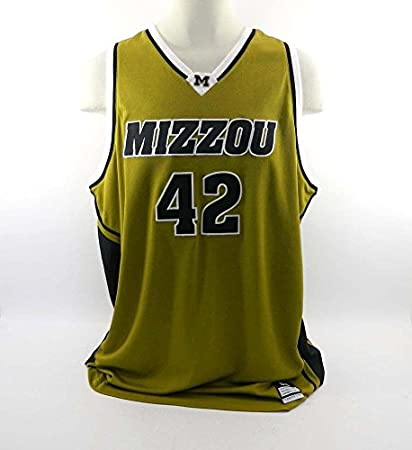 93f3957d1 Image Unavailable. Image not available for. Color  University of Missouri  42  Game Issued Gold Nike Jersey - Game Used ...