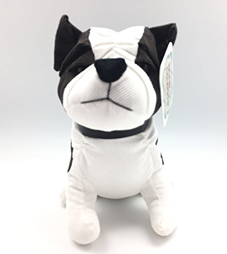 Animal Brown White Bulldog Puppy Dog Pet Lovers Door Stopper: Adorable Weighted Corduroy Bulldog Gift Home Decoration
